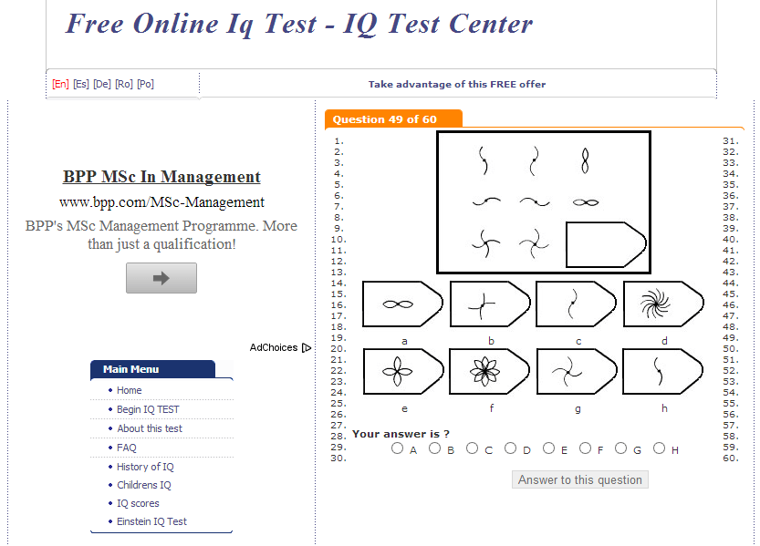 10 RELIABLE AND FREE ONLINE IQ TEST