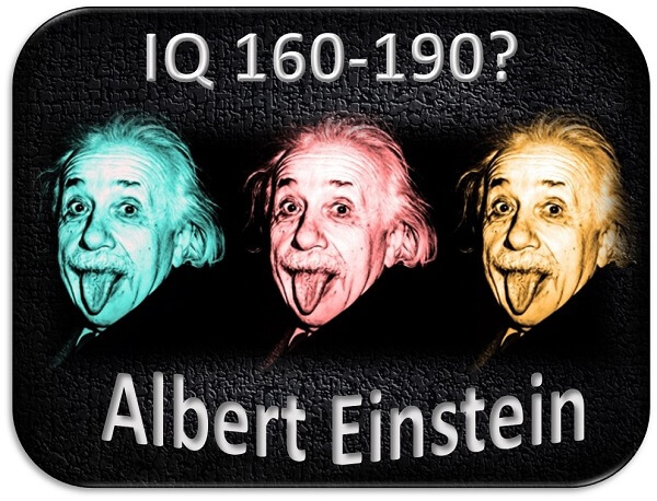 what was albert einstein's iq?