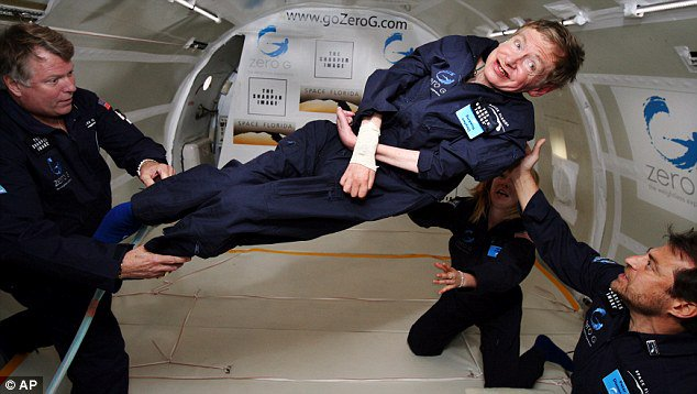 He was the first person with a disability to experience zero gravity