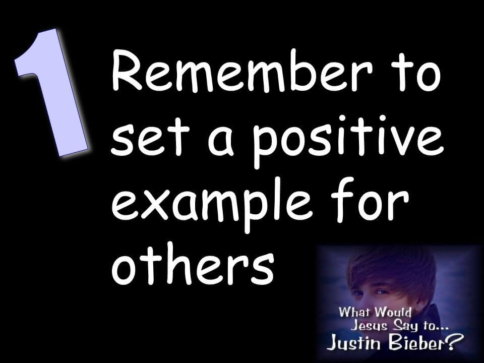 Set an excellent example for others