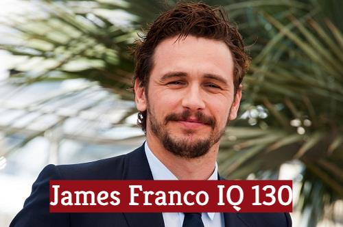 What is James Franco IQ score? The most intelligent